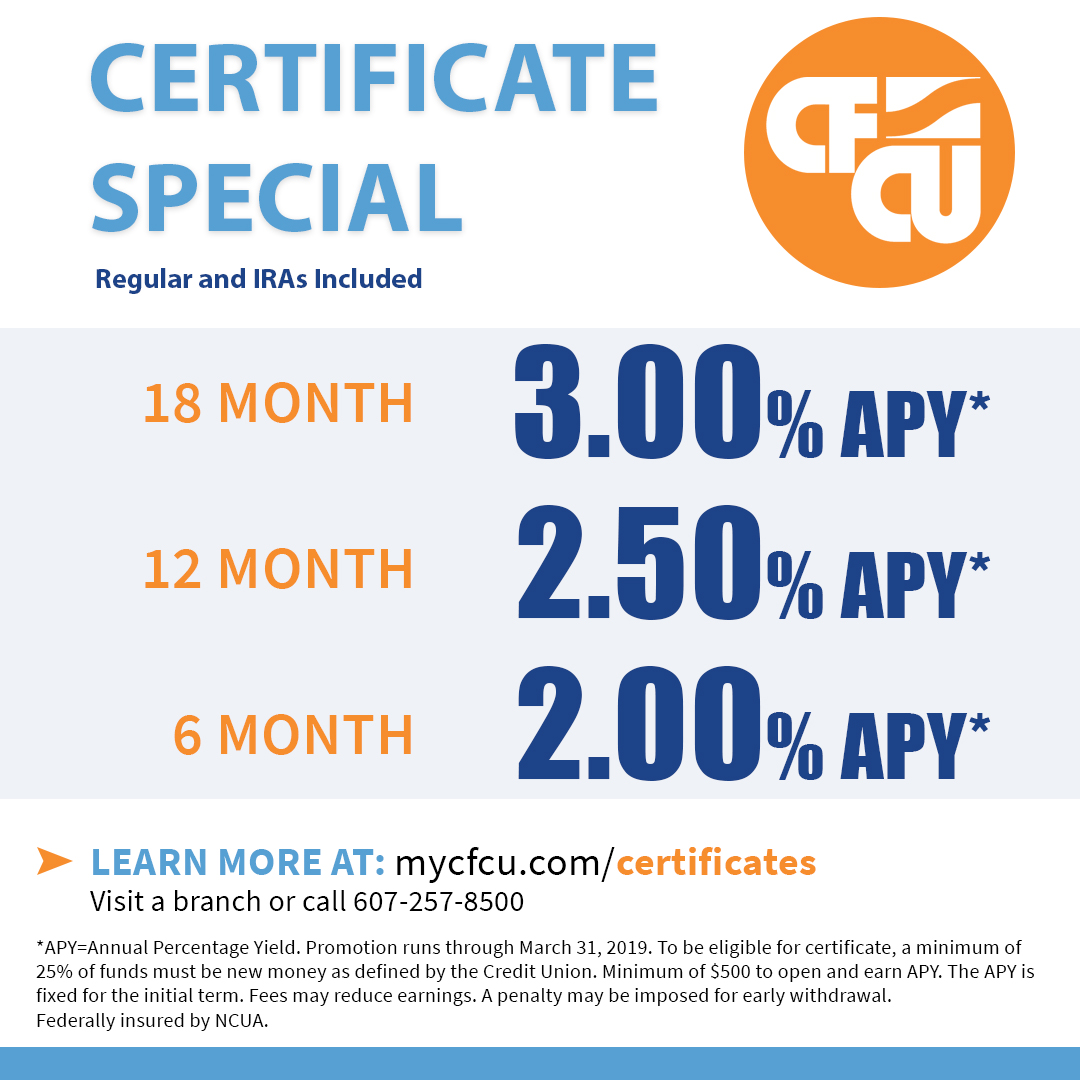 Cfcu Certificates Have Some Of The Best Local Rates And Are A