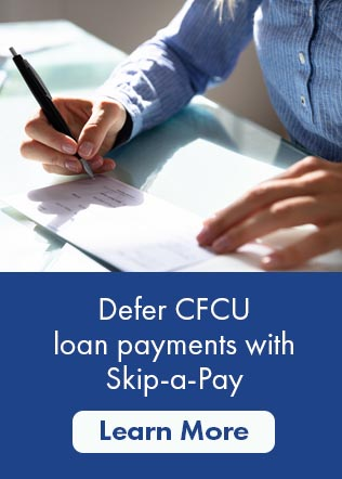 defer C F C U loan payments with skip a pay